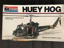 Monogram 1977 Huey Hog Helicopter Model #5201 it's 1/48 Scale in Good Condition