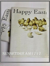 Williams Sonoma Happy Easter Chicks Towels, Set of 2 (FREE SHIP DAILY)