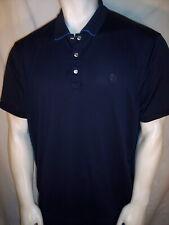 NEW IJP XL Navy Blue Poly Golf Shirt Ian Poulter The Players PGA Tour Logo