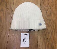 CP COMPANY Wool Logo Beanie Hat in CREAM RRP £65 16WCPUA05263003321 107