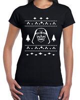 358 Vader Ugly Christmas Sweater womens T-shirt darth star geek nerd wars sith