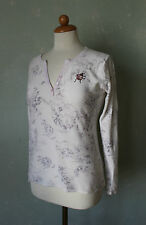 Jette Joop Pullover Shirt Cardigan Strick weiss grau Marienkäfer rosa 38 M (S9)*