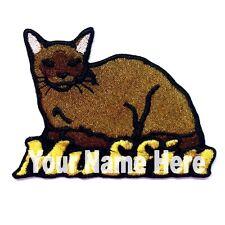 Birmania Gato Custom Hierro-Sobre Parche con Nombre Personalizado Gratis