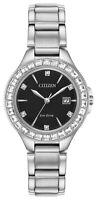 Citizen Eco-Drive Women's Silhouette Date Display Bracelet 31mm Watch FE1190-53E