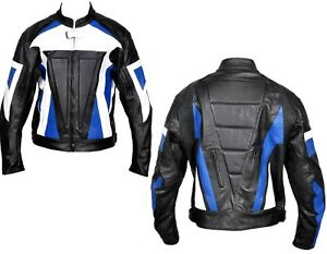 Motorcycle Leather Jacket Rider Biker Touring Racing Vent CE Protection Jacket