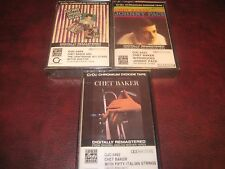 CHET BAKER 3 CASSETTE CRO2 CHROMIUM DIOXIDE TAPE DIGITALLY REMASTERED RARE SET