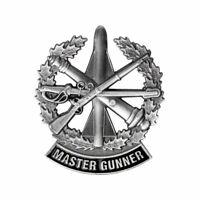 GENUINE U.S. ARMY IDENTIFICATION BADGE: MASTER GUNNER - SILVER OXIDIZED