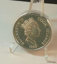 """Cook Island, 50-Dollar 1989 """"Columbus mit der Sanira"""" Silber"""