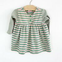Hanna Andersson Infant Baby Girls Dress Tunic Top Pink Green Striped Size 60 3-6