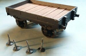 Gauge 1 flat wagon, built