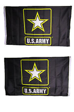 3x5 Army Star Black  Heavy Duty Polyester Nylon 200D Double Sided Flag