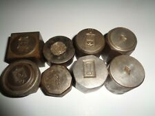Rare Oddity 8 Pc Lot Metal Die Punches National Dairy Show Ohio State Bell Chime