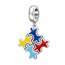 Unlock the mystery of Autism with the Sterling Silver Puzzle Charm or Pendant