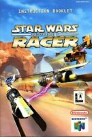 Star Wars Racer Episode 1 - Authentic Nintendo 64 (N64) Manual