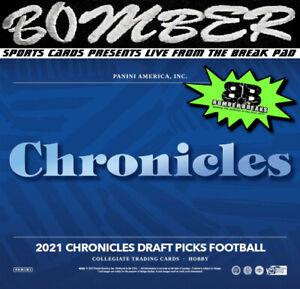 New England Patriots 2021 Panini Chronicles Draft Picks Football 4-Box Break 1