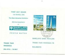 Rhodesia 1978 Trade Fair Barclays International cover
