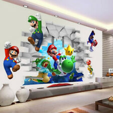 3D Wall Stickers Super Mario Bros Art Decal Mural Kids Nursery Decals Home Decor