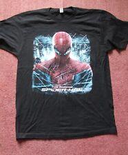 Negro Marvel Amazing Spider-Man IMAX 3D Grande Camiseta promocional.