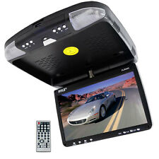 """NEW! Pyle PLRD92 9"""" LCD Roof Mount Flip Down Monitor W/ Built-In DVD Player"""