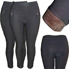 Señora cálida Thermo Stretch treggings sobre tamaño pantalones leggings Big sede