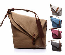 Unisex Canvas Cross Body Handbag Casual Purse Hobo Shoulder Messenger Bag