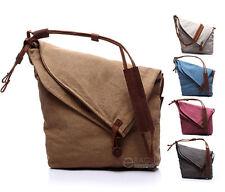 Unisex Canvas Casual Cross Body Handbag Purse Tote Shoulder Messenger Hobo Bag