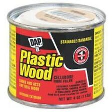 NEW DAP 21502 4 OZ CAN NATURAL PLASTIC WOOD FILLER PUTTY 6388476