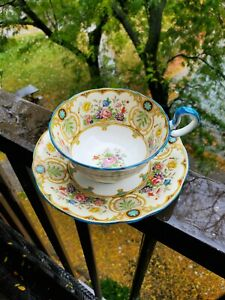 MAGNIFICENT Aynsley teacup and saucer Aynsley Tea cup REGINA Pattern  1930