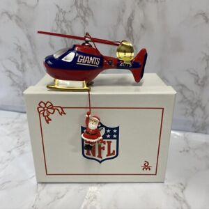 The Danbury Mint 2013 New York Giants Helicopter Chopper Santa Christmas MINT