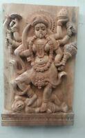 Vintage Wall Wooden Panel Hindu Durga Kali Temple sculpture Statue Home Decor