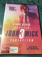 John Wick 3 Parabellum DVD Reg 4 FREE POST! (2019) New!