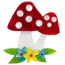 Erstwilder Brooch Forest Fun Guy Mushroom BNIB