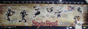 Adam Vinatieri Deion Branch Signed Autographed 12X34 Photos 2004 Superbowl AV 81