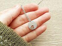 Swarovski Crystal Pendant Women's Silver Tone Necklace
