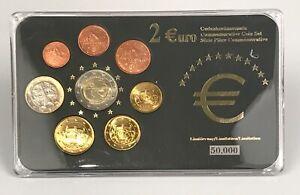 Slovaquie, Série Euro 2009. 8 pièces de 1 centimes  2 Euro.
