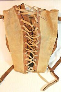 Truform Vintage Antique Lace-Up Knee Brace Leather Straps & Laces Steampunk