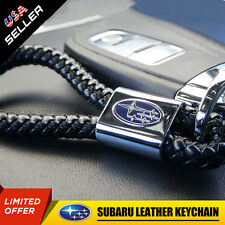 For Subaru Logo Emblem Key Chain Metal Alloy Leather Gift Decoration Accessories
