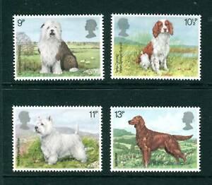MINT 1979 GB DOGS STAMP SET OF 4 MUH