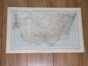 1927 VINTAGE MAP OF AUSTRALIA MELBOURNE SYDNEY CANBERRA