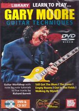 Lick Library- Gary Moore Quick Guitar Licks- Guitar Techniques- Dvd/Cd Set- New!