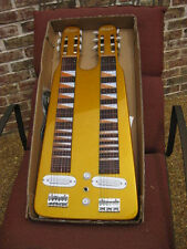 DOUBLE LAP STEEL ELECTRIC GUITAR: METALLIC GOLD: GREAT PLAYER