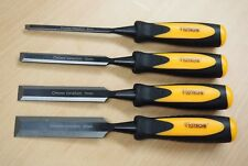 "4Pc Wood Chisels Carving Woodworking Crv 1/4"" 1/2"" 3/4"" 1"""