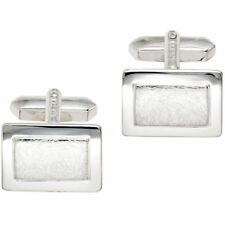Silver Partly Ice Matte Men's Cuff Links 925 Silver Sterling