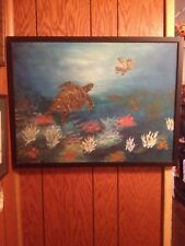 Sea Turtle's, original art acrylic painting on canvas 18 x 24