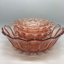 Pink Pressed Glass Art Glass