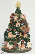 Danbury Mint Lighted Pomeranian Christmas Tree