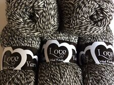 Job Lot Black/White 3/4 Ply 🧶 Wool/Yarn 500g Pack
