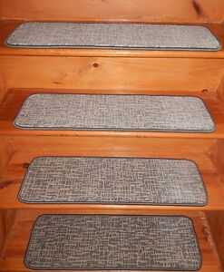 13 = Step 9'' x 30'' Landing  26'' x 30''  Tufted carpet Wool Woven Stair Treads