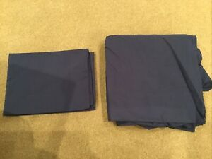 Sainsbury's Navy Single Fitted Bedsheet And Pillow Case No. 2