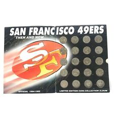 """SF 49ers Vintage """"Then and Now"""" Limited Edition Coin Collection Album"""